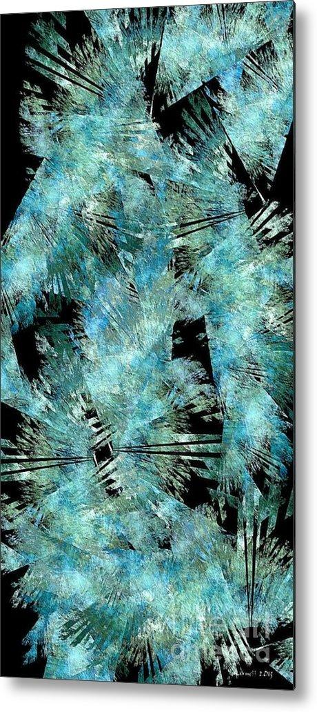 Abstract Metal Print featuring the digital art Abstraction 432-08-13 Marucii by Marek Lutek