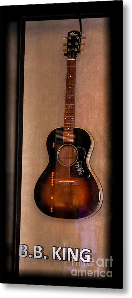 B.b. King' Metal Print featuring the photograph Bb King's Guitar by Gary Keesler