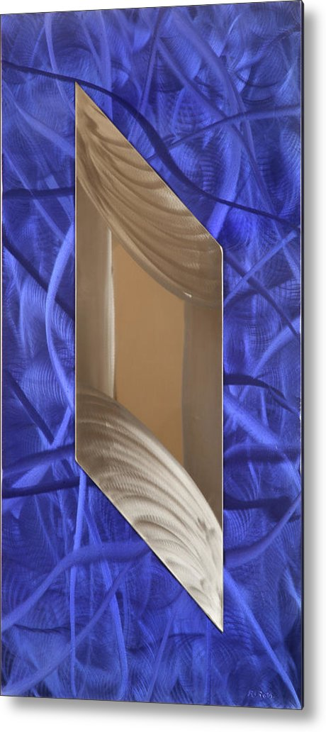 Abstract Metal Print featuring the sculpture Crazy by Rick Roth