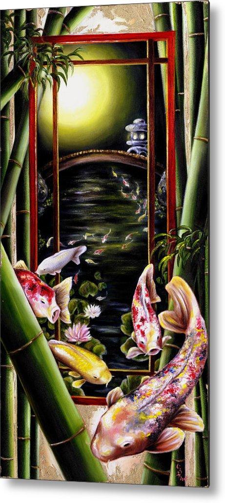 Japanese Metal Print featuring the painting Dream by Hiroko Sakai