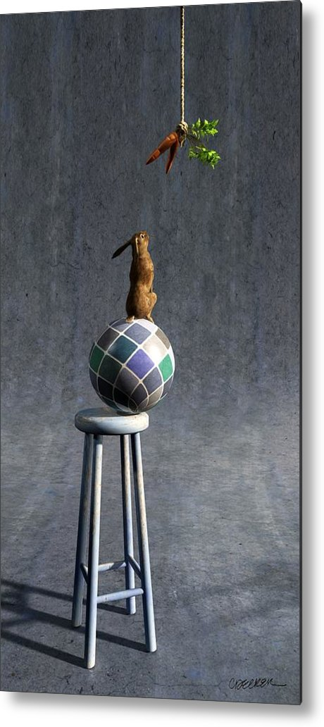 Rabbit Metal Print featuring the digital art Equilibrium II by Cynthia Decker