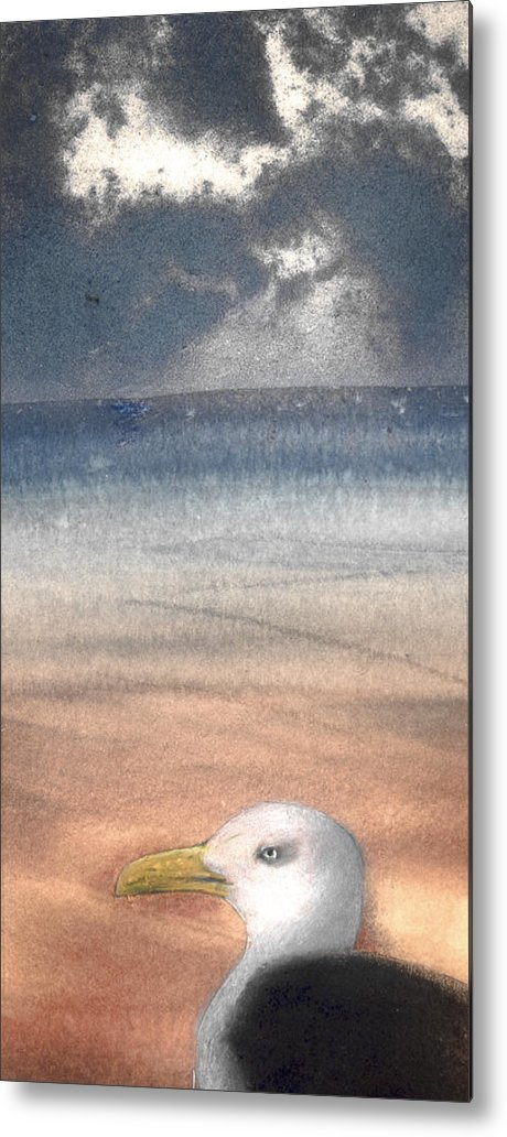 Seagull Metal Print featuring the painting The Seagull by Jose Luis Alcover