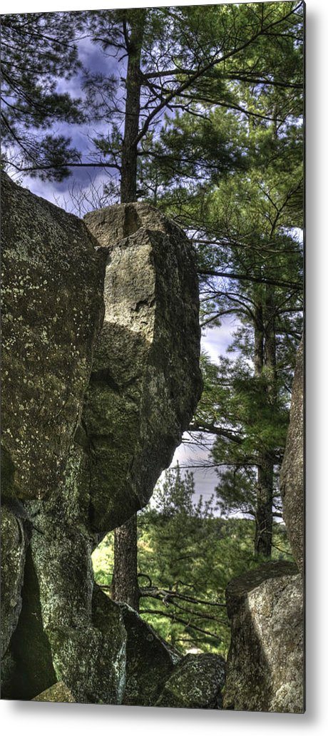 Rocks Metal Print featuring the photograph Rocks And Trees by Carol Seefeldt