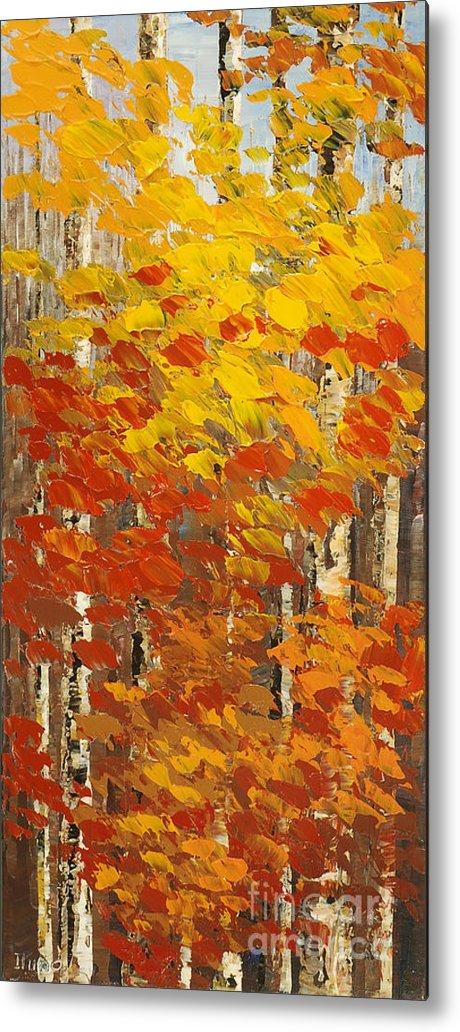 Impressionist Metal Print featuring the painting Wild Wild Woods by Tatiana Iliina
