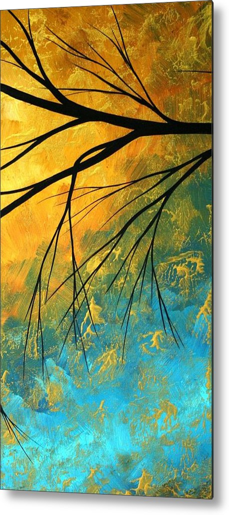 Abstract Metal Print featuring the painting Abstract Landscape Art Passing Beauty 2 Of 5 by Megan Duncanson