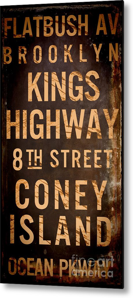 Brooklyn Metal Print featuring the painting Brooklyn Street Sign by Mindy Sommers