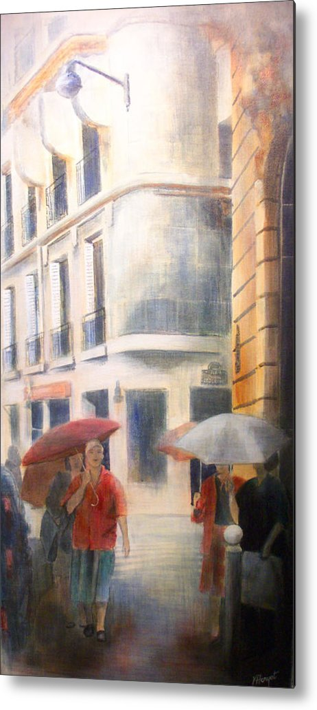 Drizzle Metal Print featuring the painting Drizzle by Victoria Heryet