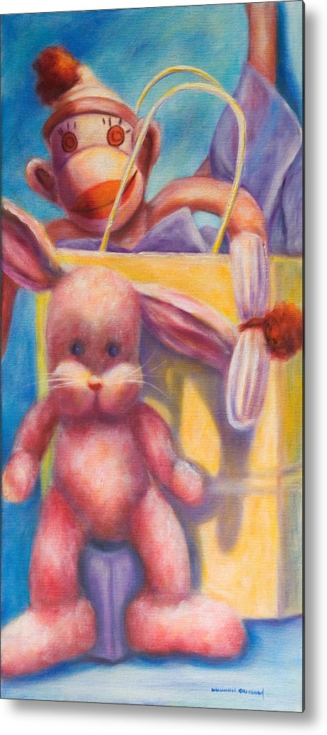 Children Metal Print featuring the painting Hide And Seek by Shannon Grissom
