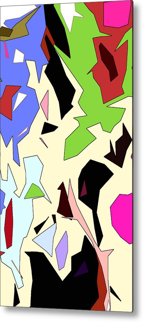 Abstract Metal Print featuring the digital art Perhaps Departure Panel Two Of Four by Linda Mears