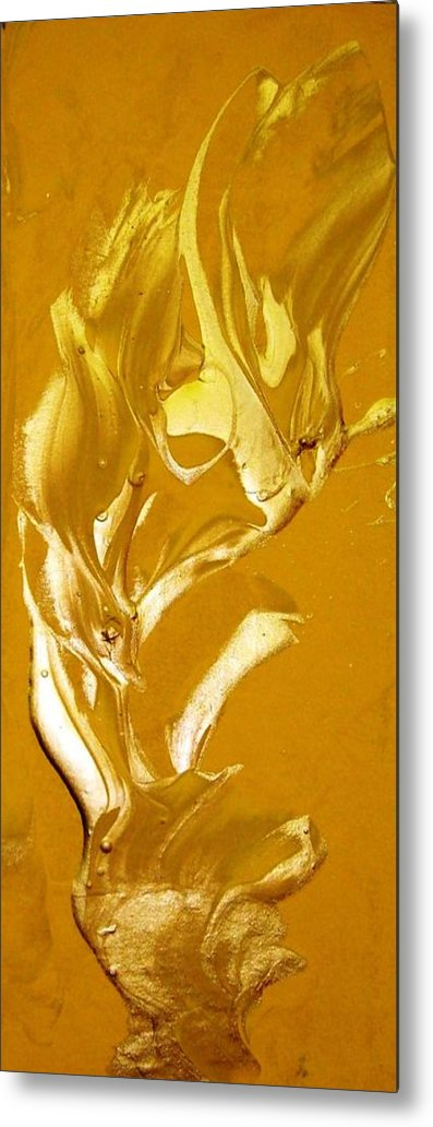 Gold Metal Print featuring the painting For Love  For All by Bruce Combs - REACH BEYOND