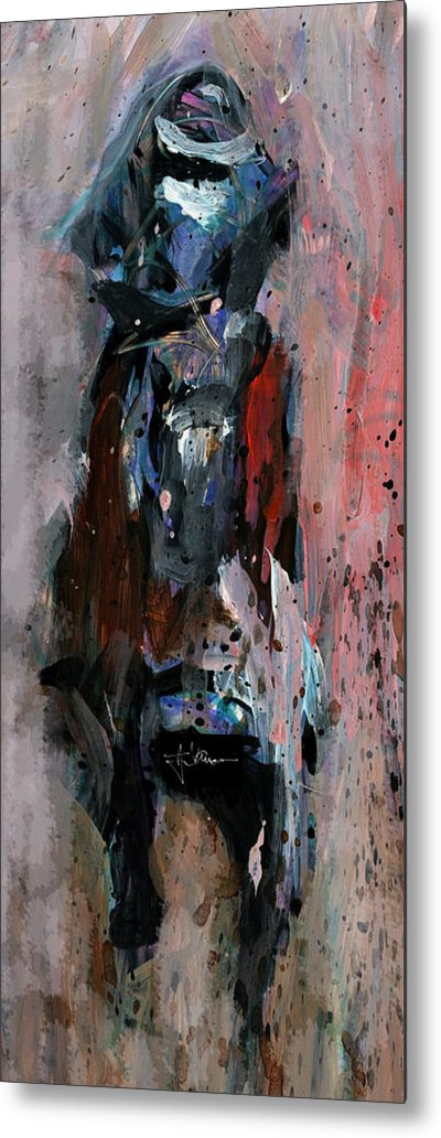 Horse Metal Print featuring the mixed media The Messenger by Jim Vance