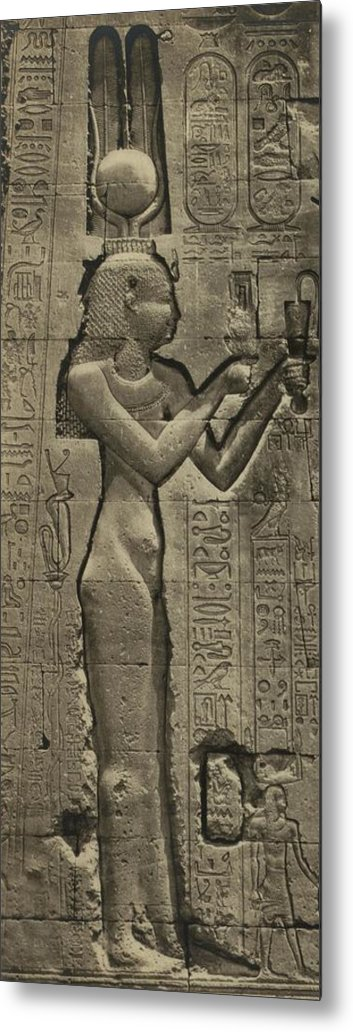 History Metal Print featuring the photograph Relief Sculpture Of Cleopatra Vii 69-30 by Everett
