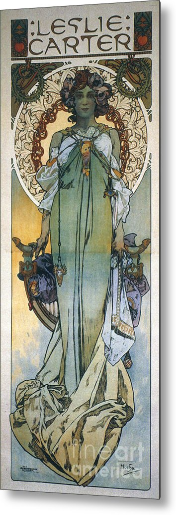 1909 Metal Print featuring the photograph Mucha: Theatrical Poster by Granger