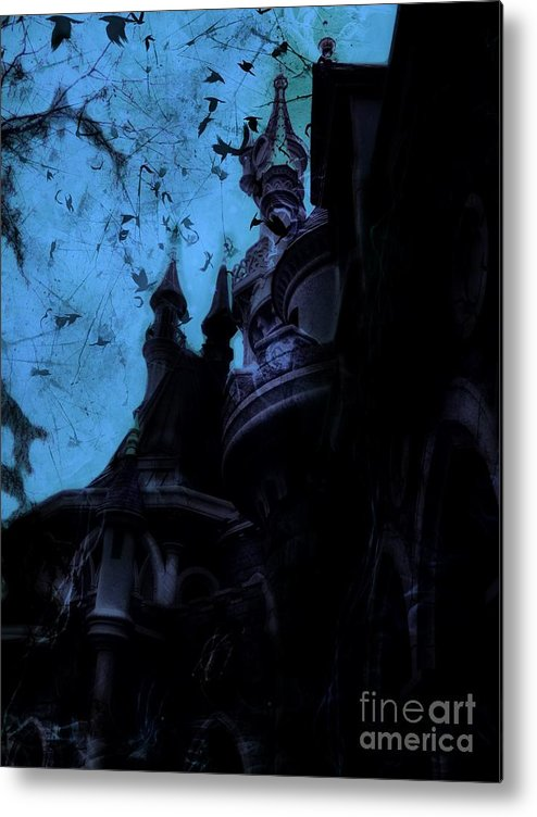 Sleeping Beauty Castle Metal Print featuring the digital art Aurora's Nightmare II by Marina McLain