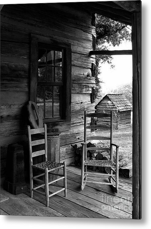 Log Cabins Metal Print featuring the photograph His And Hers by Julie Dant