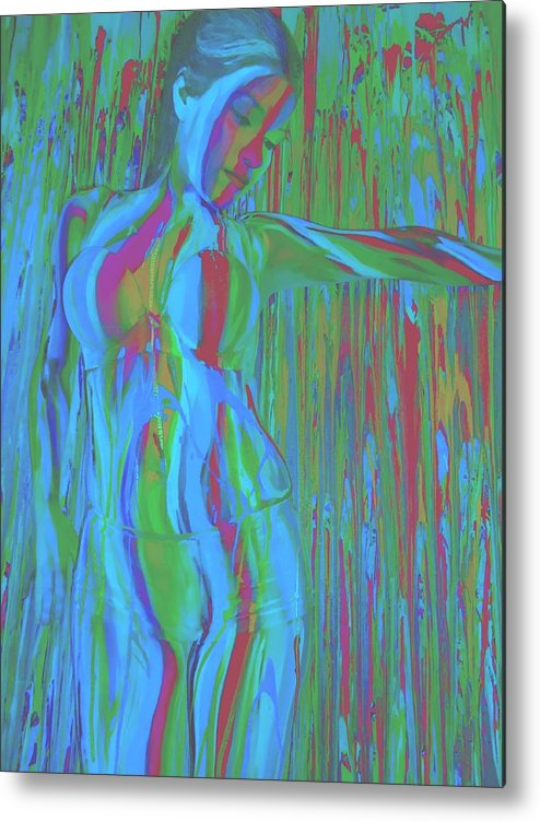 Bodypainting Metal Print featuring the mixed media Jasmine by Oscar Galvan