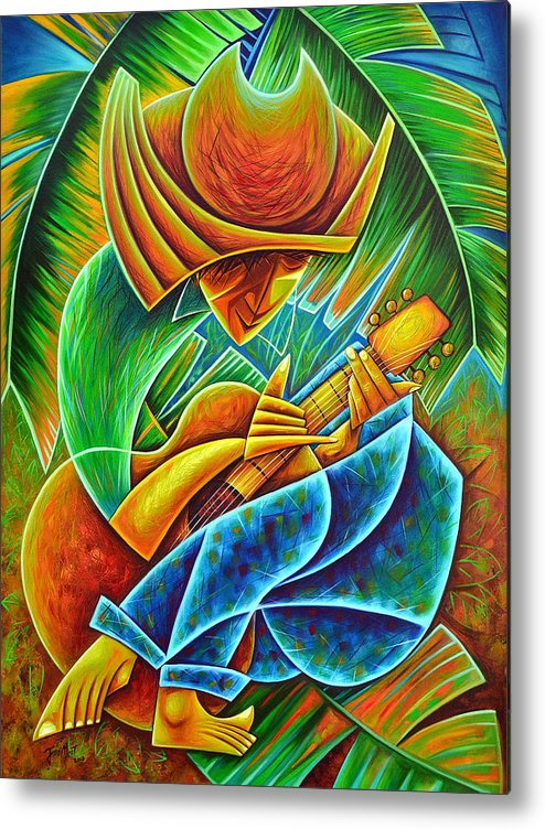 Metal Print featuring the painting Minstrel by Javier Martinez
