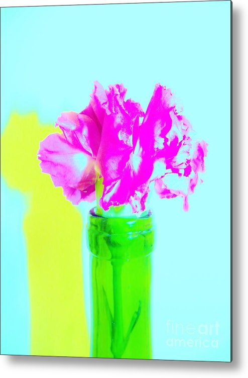 Color Metal Print featuring the digital art Pink 2 by Sharon Sennett Herne