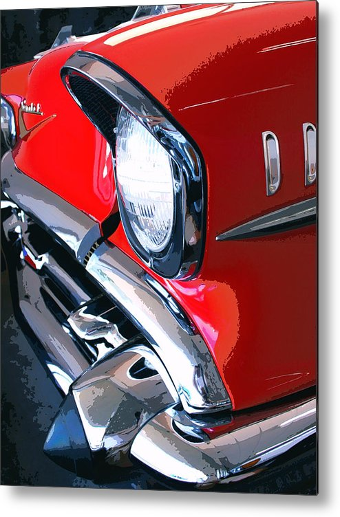 57 Chevy Front End Metal Print featuring the photograph 57 Chevy Front End Palm Springs by William Dey