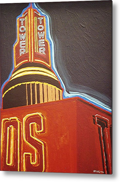 Sacramento Metal Print featuring the painting Tower Theatre by Paul Guyer