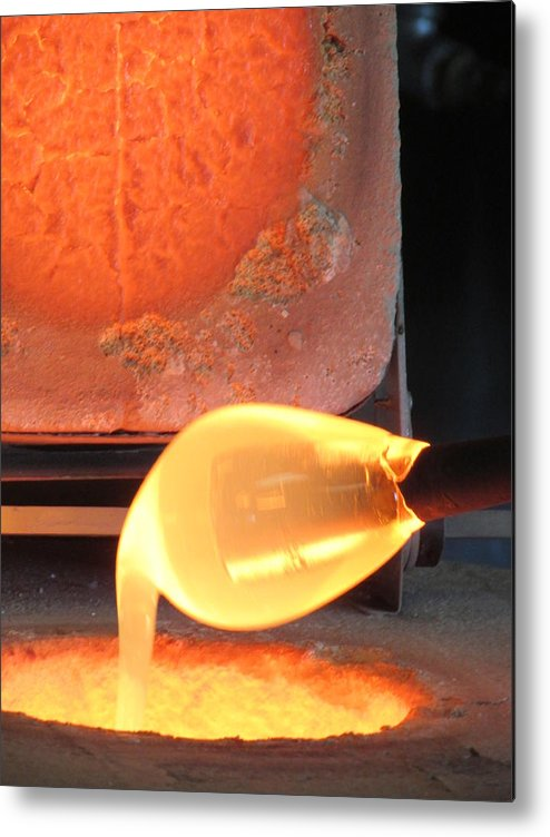 Hot Metal Print featuring the photograph A Dip Into Clear Glass by Amanda Roberts