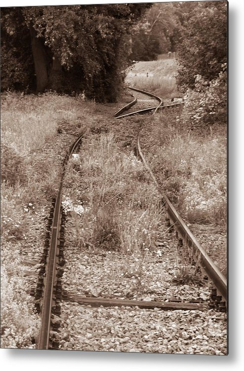 Rail Metal Print featuring the photograph A Path Not Taken by Tom Maimran