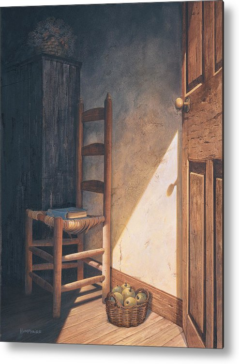 Country Metal Print featuring the painting A Warm Welcome by Michael Humphries