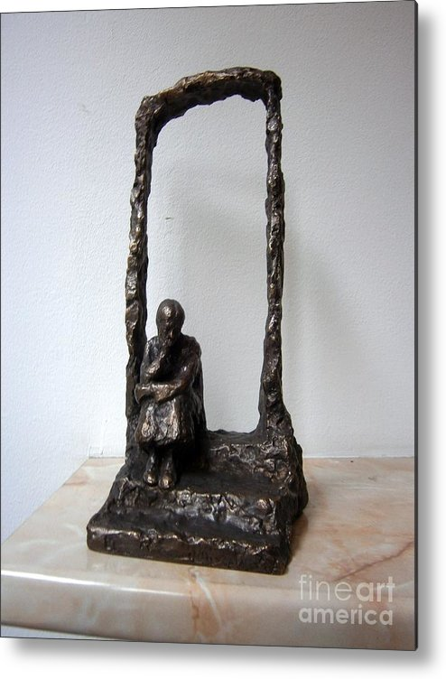 Bronze Metal Print featuring the sculpture Abandoned Village by Nikola Litchkov