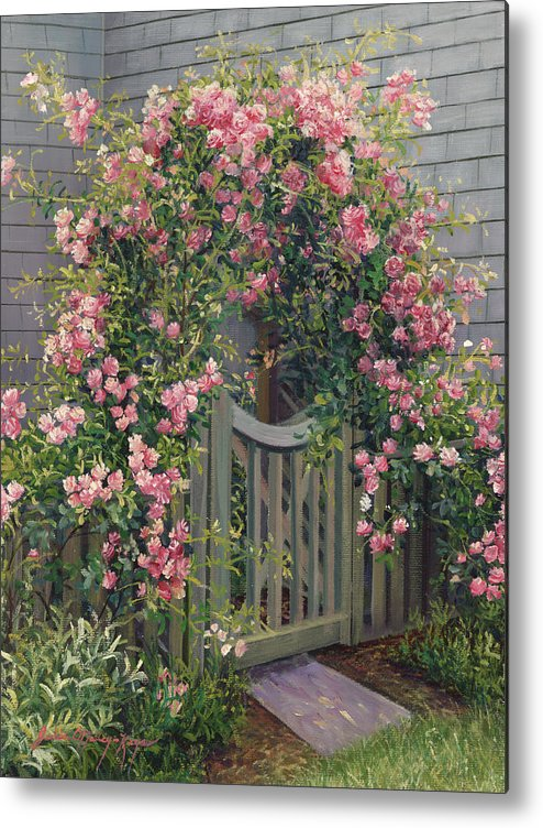 Roses Metal Print featuring the painting Abundance Of Roses by Julia O'Malley-Keyes