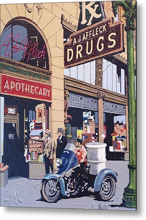 Sacramento Metal Print featuring the painting Affleck's On Tenth Street by Paul Guyer