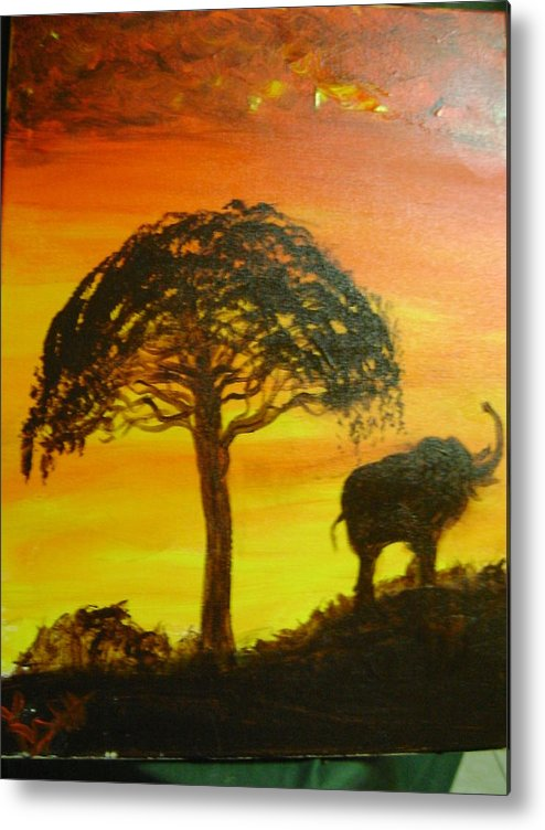 Africa Metal Print featuring the mixed media Africa by K