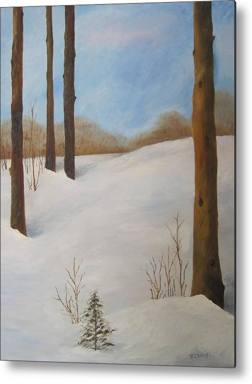 Oil Metal Print featuring the painting After The Storm by Nancy Craig
