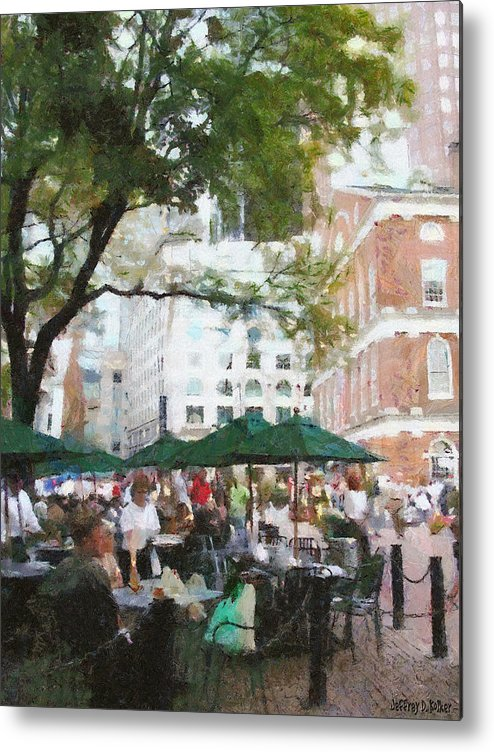 Afternoon Metal Print featuring the painting Afternoon At Faneuil Hall by Jeff Kolker