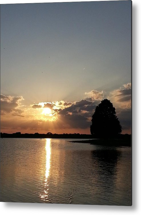 Lake Metal Print featuring the photograph Alone by Caryl J Bohn