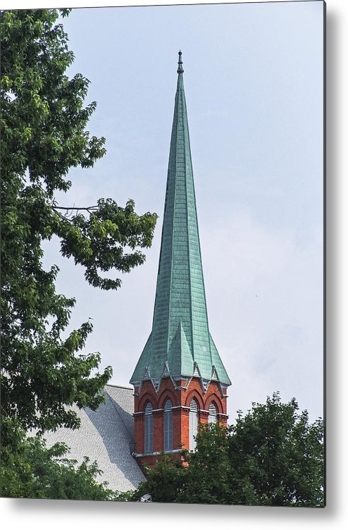 Church Metal Print featuring the photograph Amsterdam Steeple by Eric Swan