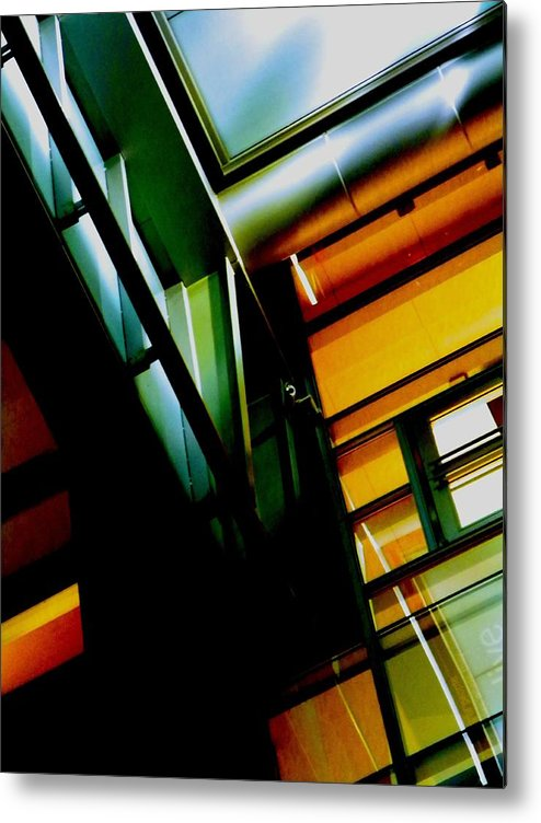 Abstract Metal Print featuring the photograph Architectures Glowing Personality by Clayton Odom