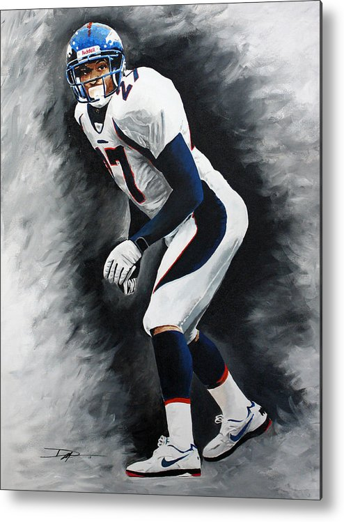 Steve Atwater Metal Print featuring the drawing Atwater by Don Medina