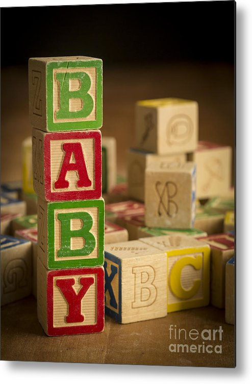 Blocks Metal Print featuring the photograph Baby Blocks by Edward Fielding