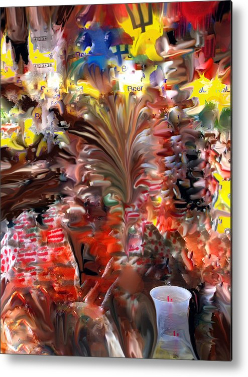 St Kitts Metal Print featuring the digital art Beach Bar by Ian MacDonald