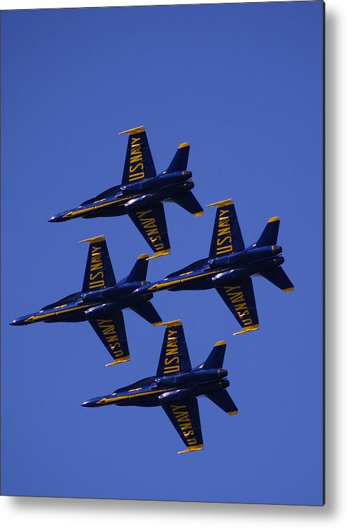 Airshows Metal Print featuring the photograph Blue Angels by Bill Gallagher