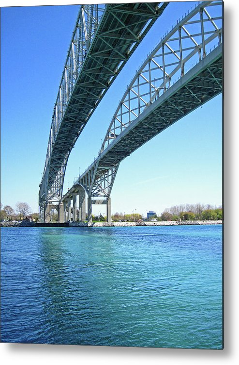 Blue Water Bridge Metal Print featuring the photograph Blue Water 6 by Mary Bedy