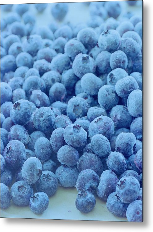 Berries Metal Print featuring the photograph Blueberries by Romulo Yanes