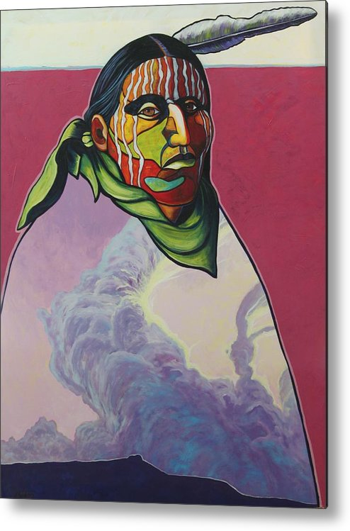 Native American Indian Metal Print featuring the painting Body And Soul by Joe Triano