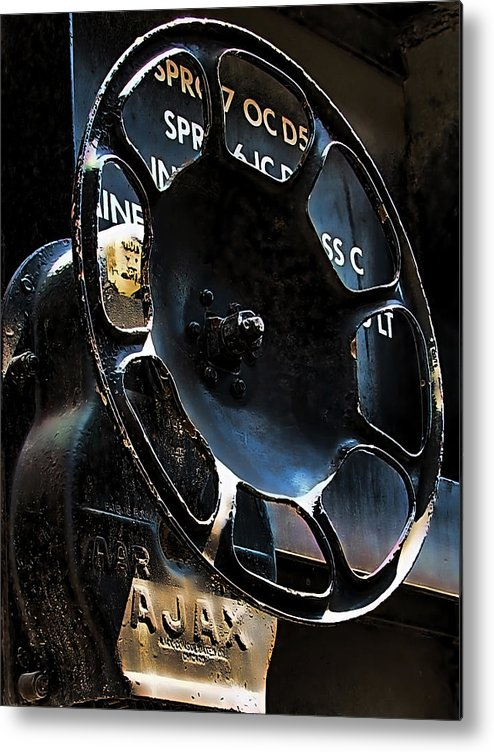Art166 Metal Print featuring the photograph Braking by Wendy J St Christopher