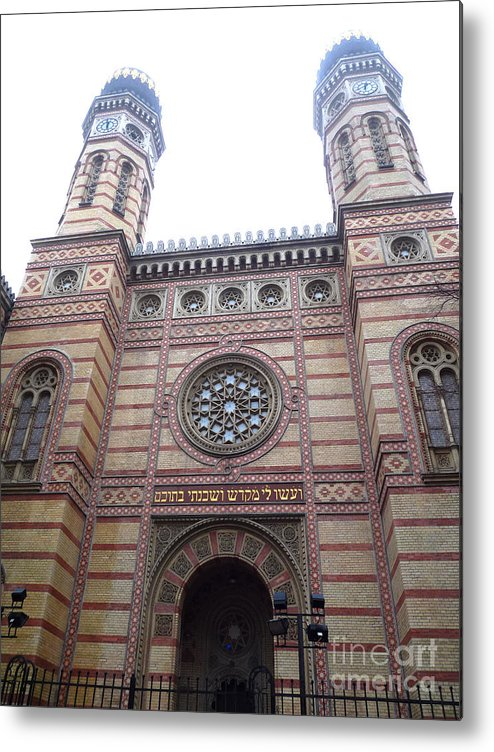 Budapest Metal Print featuring the photograph Budapest Synagogue by Deborah Smolinske