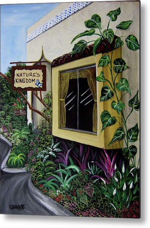 Tampa Metal Print featuring the painting Busch Gardens Scene by Gloria E Barreto-Rodriguez