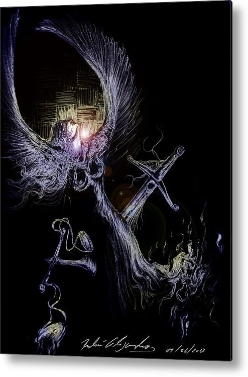 Angels Metal Print featuring the digital art Carencia De Democracia by Ruben Santos