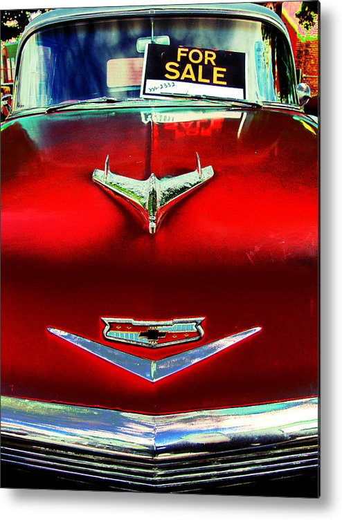 Classic Cars Metal Print featuring the photograph Chevy For Sale by Colleen Kammerer