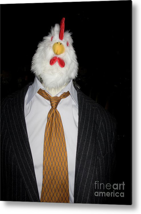 Mannequin Metal Print featuring the photograph Chicken Man by Linda Matlow