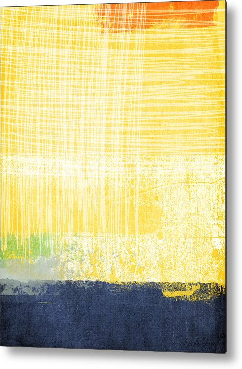 Abstract Painting Metal Print featuring the painting Circadian by Linda Woods